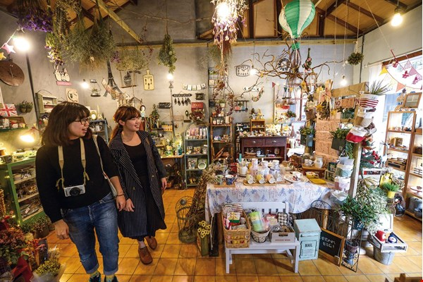 "Shops that have opened in spaces renovated under the ""Green Ray Project"" carry a wide variety of unusual and niche products. Some also offer lectures or classes, so that both the businesses and local residents have the opportunity to continually grow. (courtesy of Fantasy Story)"