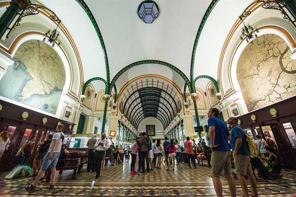 Ho Chi Minh City's central post office, a major landmark, is a relic of the country's French colonial past.