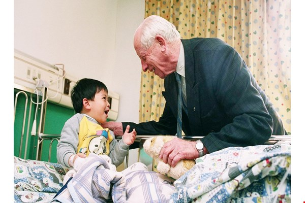 For decades Father Antoine Pierrot visited patients on a daily basis. (courtesy of St. Joseph's Hospital)