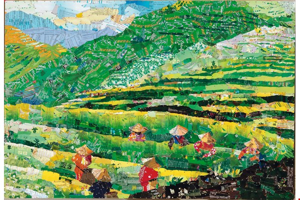 Fragrant Tea Plantations. This is a landscape painting of the tea-growing country of Anxi in mainland China's Fujian Province.