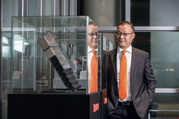 Key­arrow CEO King Wang is leveraging lean production to redefine value in manufacturing. (photo by Lin Min-hsuan)