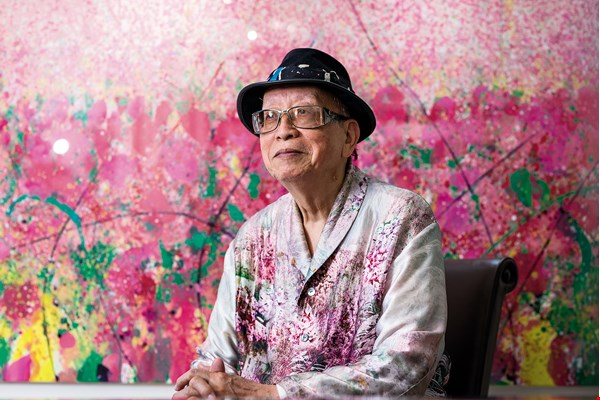 "Chen Cheng-hsiung's artistic career has been as brilliant and colorful as his ""Spring Within Spring"" series. (photo by Chuang Kung-ju)"