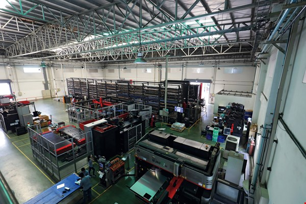 Jinpao Precision Industry Company, which set up shop in Thailand in 1998, has become a model of success among Taiwanese enterprises in the kingdom. Its core business is precision sheet metal fabrication. It was listed on the Taiwan Stock Exchange in 2017. (photo by Jimmy Lin)