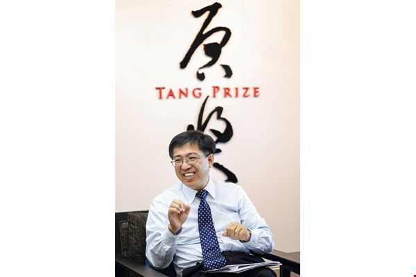 Tang Prize Foundation CEO Chern Jenn-chuan believes that the prizewinners' influence and tangible contributions can bring new vision and thinking to help overcome the world's challenges. (photo by Jimmy Lin)