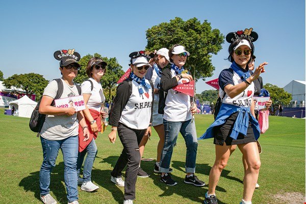 Fans wore eye-catching clothing and accessories to show support for their favorite competitors.