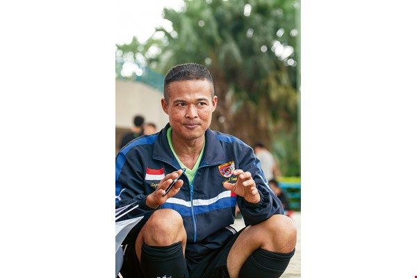 Saptono, the captain of Putera Indonesia FC, speaks fluent Mandarin and views Taiwan as his adopted home.