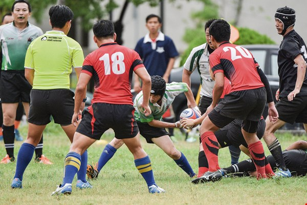 "Gou Chongsin applies the lessons he learned playing rugby to managing his rocketry development team. He ""corralled"" team members together, and harnessed their efforts into doing something different for Taiwan. (courtesy of Gou Chongsin)"