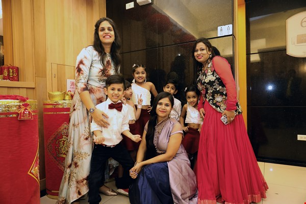 Everyone dresses up for Diwali, the Indian New Year festival.