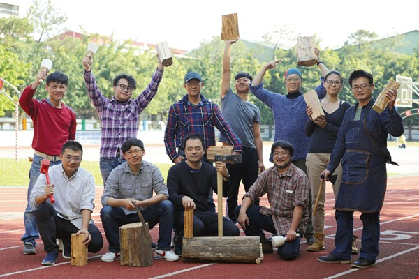 "Woodworking ""boot camp"" trainees: The mission of these teachers is to nurture the manual arts and handicraft talent of tomorrow, thereby highlighting the value of traditional craftmanship in the 21st century. (photo by Jimmy Lin)"