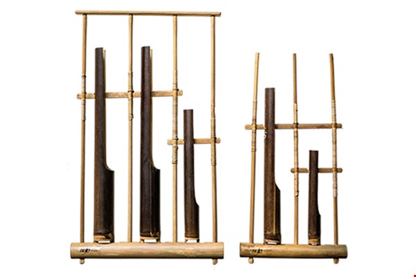 The angklung is a traditional percussion instrument made from bamboo that origin­ated in western Java.