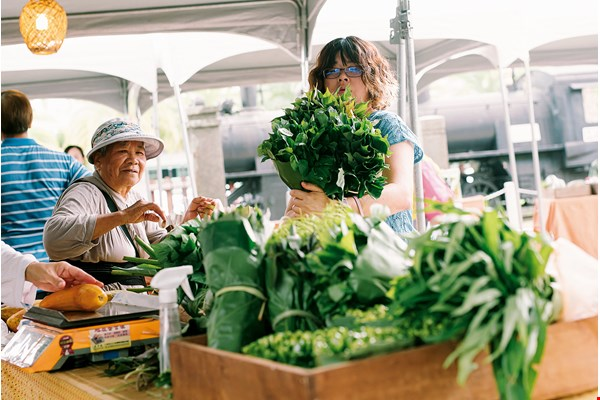 Farmers' markets put into practice sustainability from production to sales.